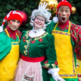 Mrs Claus And Santa's Elves
